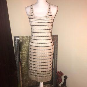 Ann Taylor Loft Ombré Knit Striped Sheath Dress